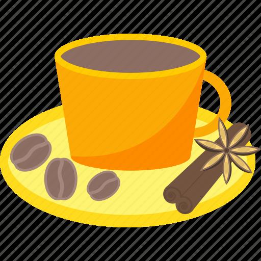 beauty, cinnamon, coffee, health, saucer icon