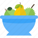 beauty, food, fruit, health, plate icon