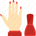 beauty, hand, health, manicure icon