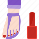 beauty, foot, health, pedicure icon