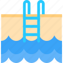 beauty, health, pool, training icon