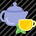 beauty, drink, health, lemon, tea icon
