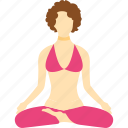 beauty, health, meditation, woman, yoga icon