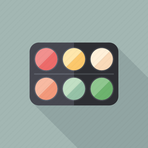 beauty, cosmetic, eyeshadow, fashion, makeup, paint, palette icon