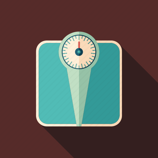 bathroom, care, diet, health, retro, scale, weight icon