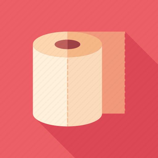 bathroom, care, hygiene, medicine, paper, roll, toilet icon