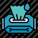 hygiene, paper, toilet, wet, wipes icon