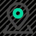 address, health, medical, position icon
