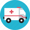 ambulance, emergency, transport, vehicle icon