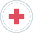 cross, medical, sign icon