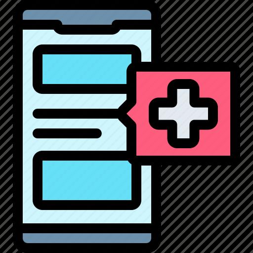 emergency, health, healthy, hospital, smartphone icon