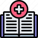 book, emergency, health, healthy, hospital icon