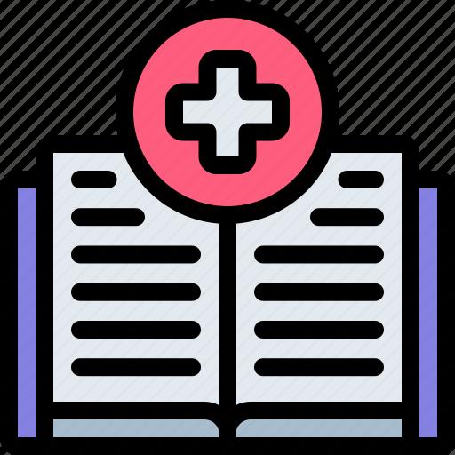 book, emergency, health, healthy, hospital icon