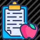 board, checklist, diet, food, healthy, notepad, plan