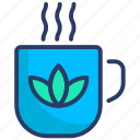cup, herbal, hot, organic, tea icon