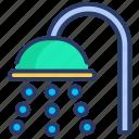 bath, bathroom, facility, shower, washroom icon