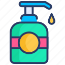 beauty, dishes, liquid, liquid soap, soap, soap dispenser icon