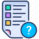 data, document, file, format, help, question, web icon