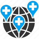 clinic, hospital, location, map, medical, medicine, pointer icon