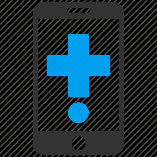 health, medical, medicine, mobile, phone, smartphone, telephone icon