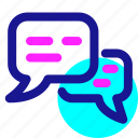blogging, bubble, chat, health, help, support, trainer icon