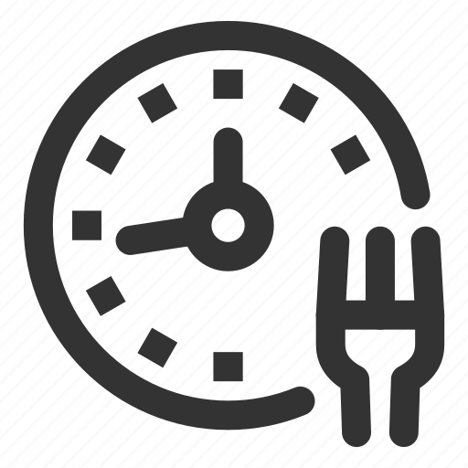 clock, diet, eat, fitness, health, time, timetable icon