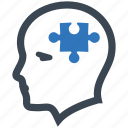 business solution, plan, planning, psychiatry, puzzle, solution icon