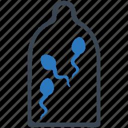 condom, preservative, preserve, protection, rubber, stop sperm, virus control icon