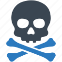crossbone, danger, death, pirate, poison, skeleton, skull