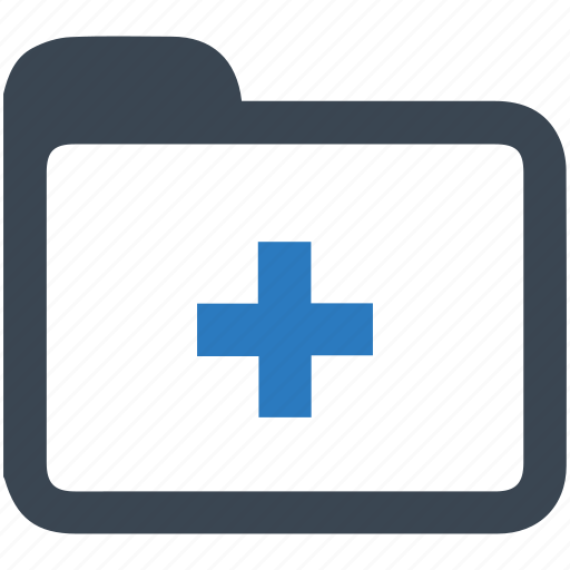 folder, health records, healthcare, medical files icon