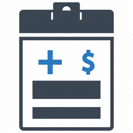 health insurance, medical bill, medical file icon