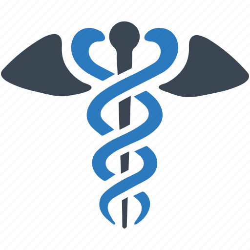caduceus, healthcare, medecine, medical, medical office, snake, wings icon