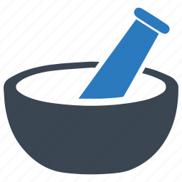 drug, medical supplies, mortar, pestle, pharmacology icon