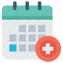appointment, medical scheduler, patient appointment, patient visits, patients scheduler icon