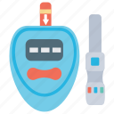 blood glucose, blood sugar, diabetes, diabetic testing, glucose meter icon