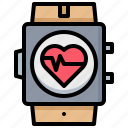 checkup, equipment, heart, monitor, rate, watch icon