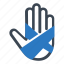 bandage, fracture, hand icon