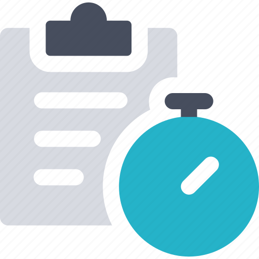clipboard, equipment, fitness, gym, sport, stopwatch, workout icon icon