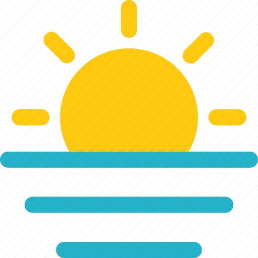 sun, sunrise, weather icon icon