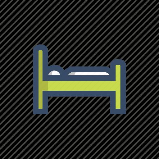 bed, bedroom, patient, rest, sleep, travel icon