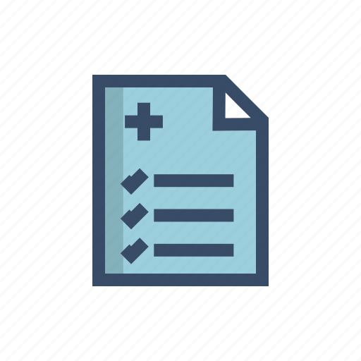 analyze, diagnostic, insurance, medical, medical record, notepad, record icon