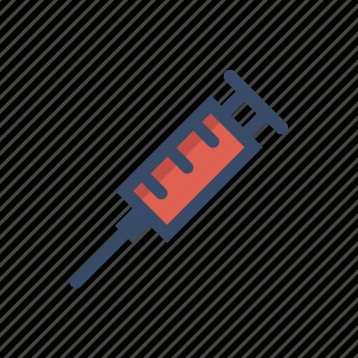dose, injection, injector, needle, pharmacy, syringe, vaccine icon