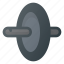 fittness, gym, training, wheel, workout icon