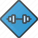 gym, location, place, sign icon