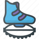 fitness, gym, health, jump, kangaroo, shoe icon