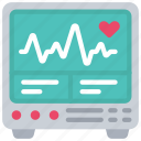 health, heartbeat, heartrate, hospital, medical, monitor icon