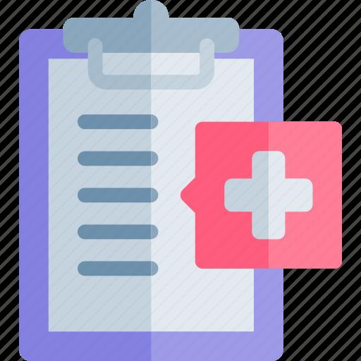 clipboard, emergency, health, healthy, hospital icon