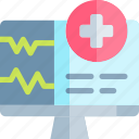 emergency, health, healthy, hospital, monitor icon