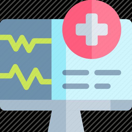emergency, health, healthy, hospital, monitor icon