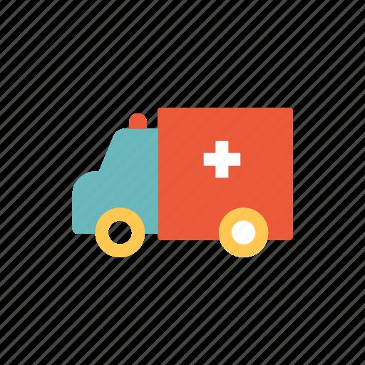 ambulance, car, emergency, healthy, hospital, transport, treatment icon
